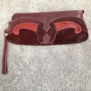 Claudia Firenze leather clutch purse